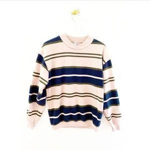 american apparel / city stripe pullover sweatshirt